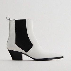 Zara Leather Cowboy Boot